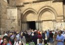 Na Terra Santa milhares de peregrinos todos os dias